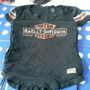 Harley-Davidson lace up tee 2